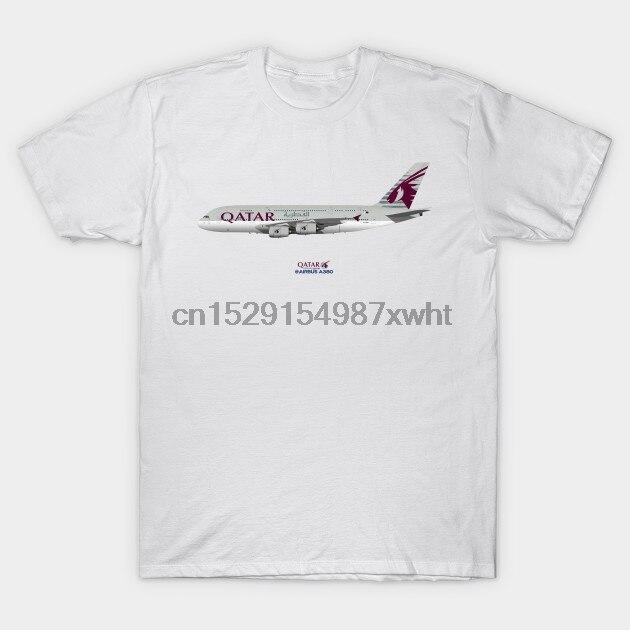 Мужская футболка иллюстрация Qatar Airways Airbus A380 от stevehclark Футболка женская футболка