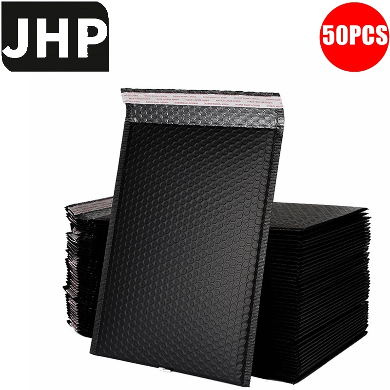 50PCS Black Self Sealing Bubble Mailer Envelope,Collision-Resistant Express parcel packing bag,Express logistic package packing