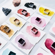Handmade Grinding Minerals Solid Watercolor Pigment Single Piece Self-select Color Import Master Wat