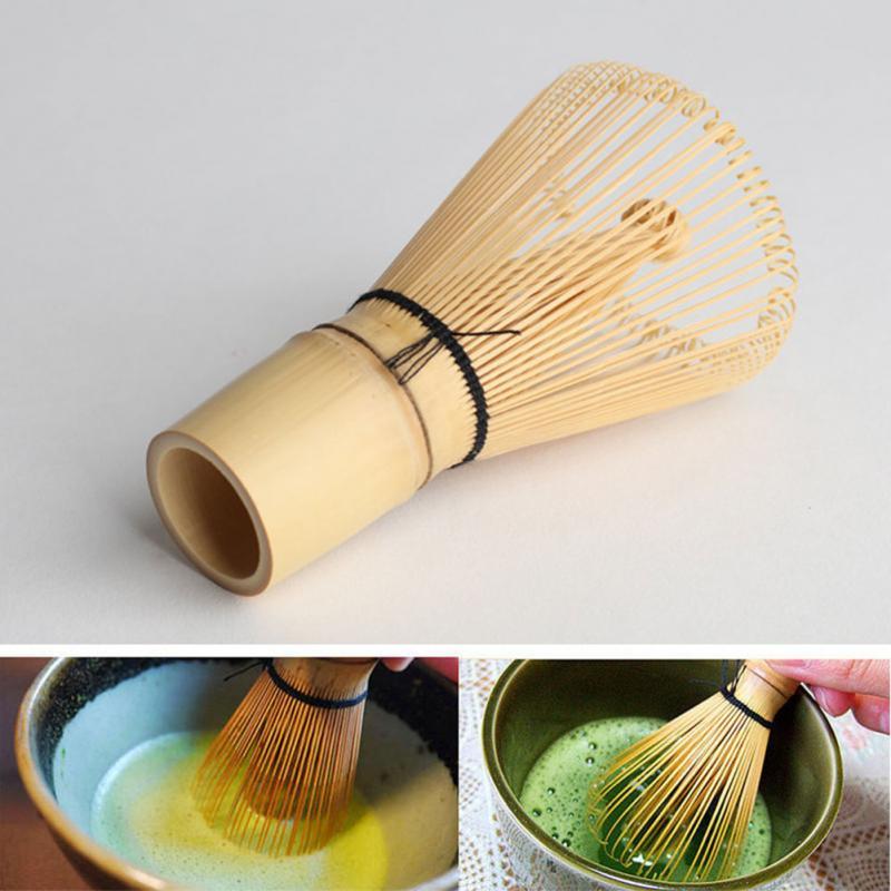 1 -Chasen listo para Matcha cepillo de bambú estilo japonés té suelto cepillo Matcha batidor