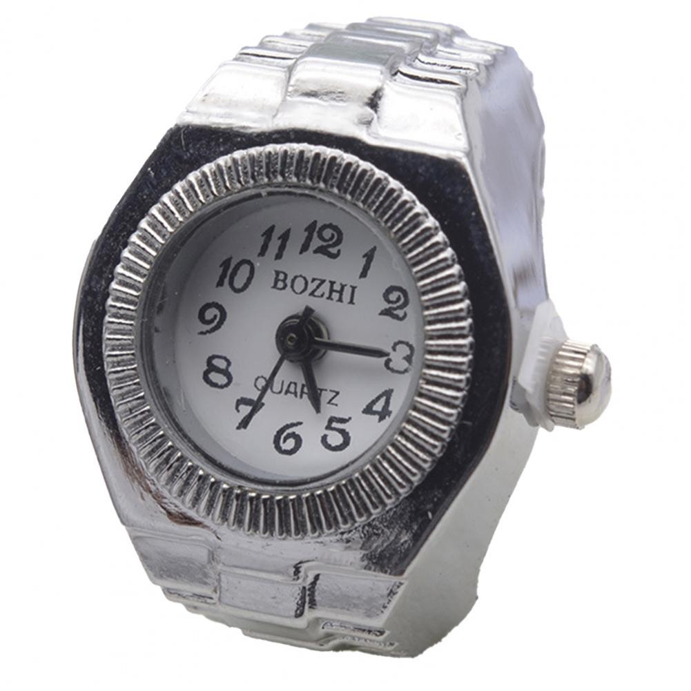 Couple Watch for Lovers High Elastic Adjustable Alloy Fashionable Finger Ring Watch Simple Style New