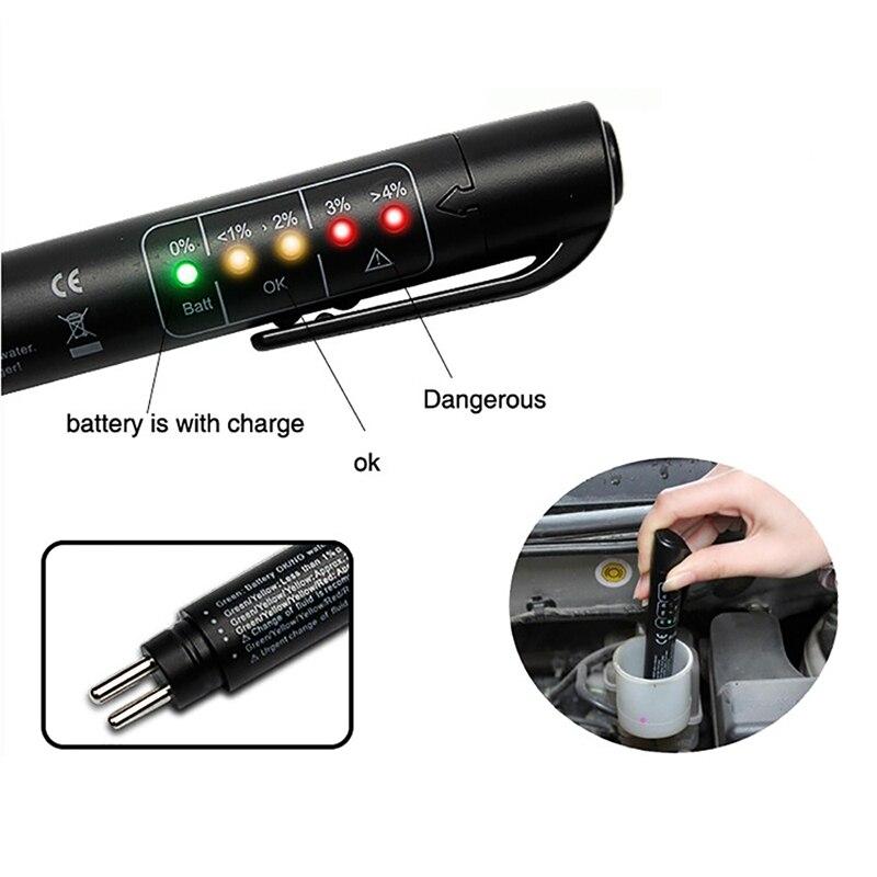 Универсальный тормозной жидкости Тестер диагностический инструмент точные масла 5 светодиодов Авто Автомобиль Тормозная жидкость инструм...