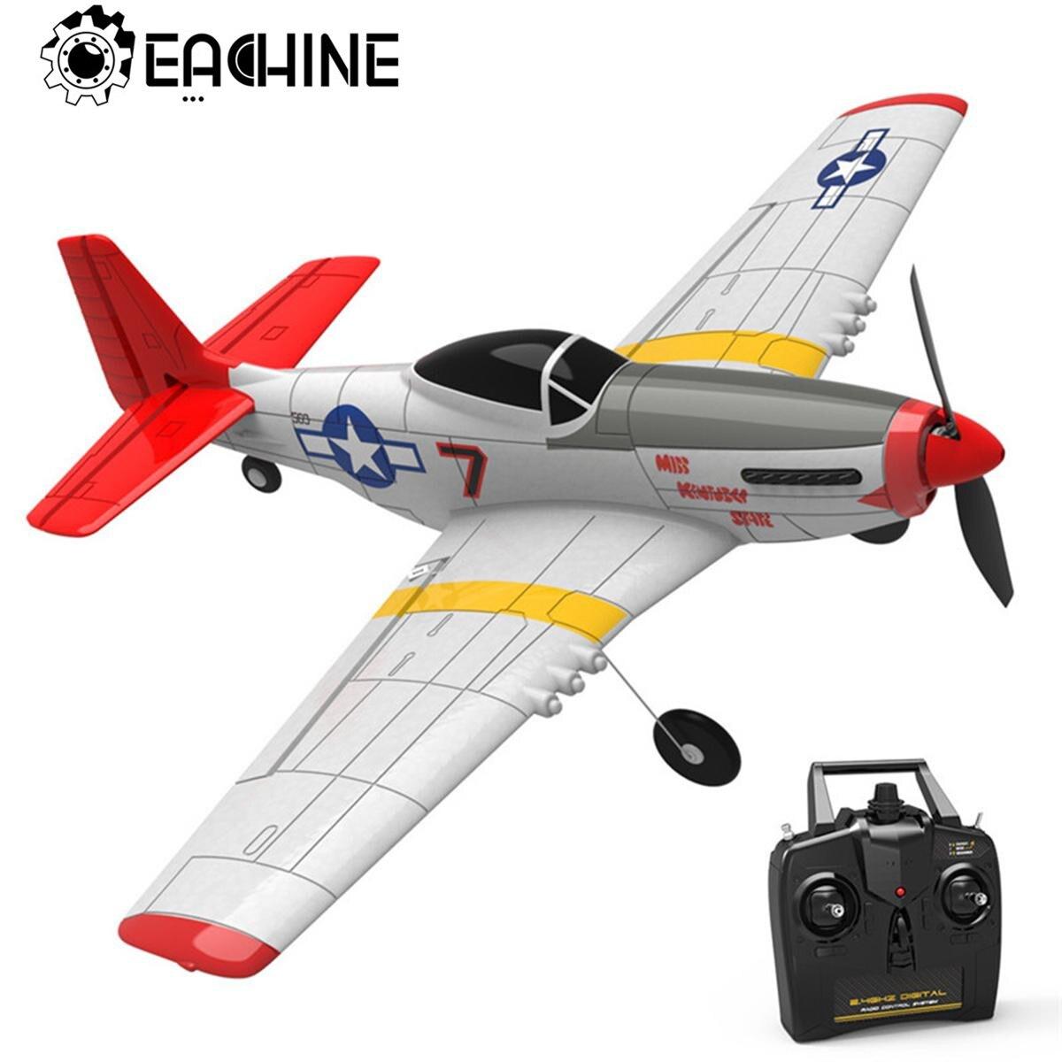 Eachine البسيطة P-51D EPP 400 مللي متر جناحيها 2.4G 6-محور الكهربائية RC طائرة المدرب 14 دقيقة المعركة الوقت ثابتة الجناح RTF للمبتدئين