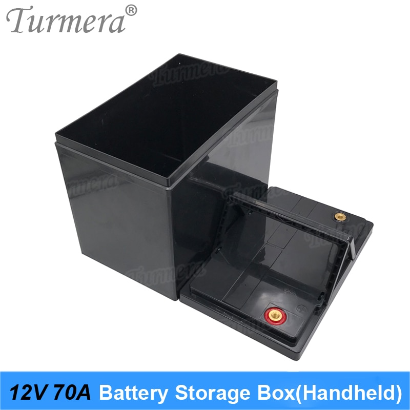 Turmera 12V Battery Storage Box for 3.2V Lifepo4 Battery Use Can Build 70Ah to 100Ah for Solar System Uninterrupted Power Supply
