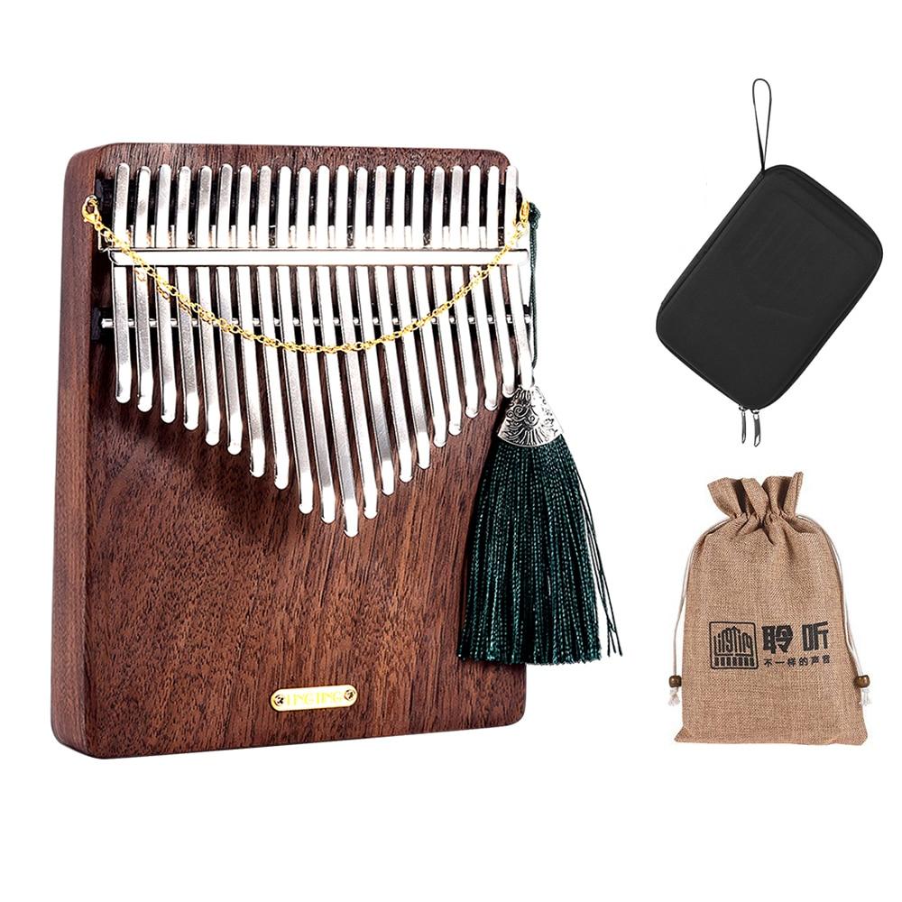 LINGTING-بيانو كاليمبا الخشبي K21W 21 مفتاحًا ، كاليمبا مبيرا سانزا F Tonality مع حقيبة تخزين ، حقيبة حمل ، ملصقات كتاب الموسيقى