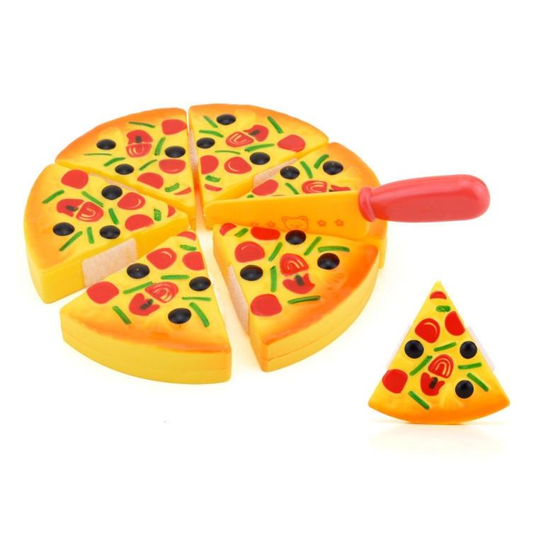 2019 a estrenar 6 uds para niños, niños, rodajas de Pizza, como si fuera una cena, juegos de cocina, juguetes de comida, regalos para niños, Jouets para niños