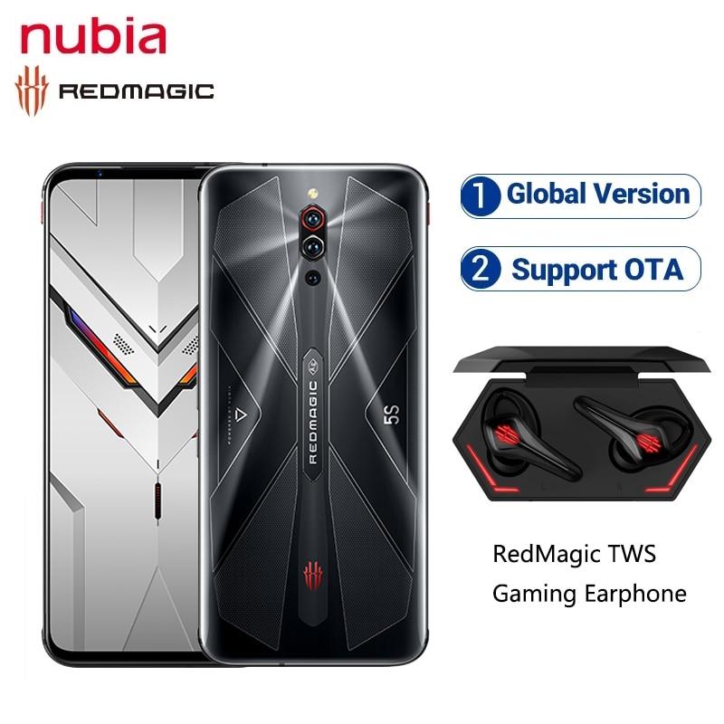 "Global Version Nubia Red magic 5S Gaming phone 6.65"" 8GB RAM 128GB ROM Snapdragon 865 Redmagic Smart Phone NFC with Earphone"