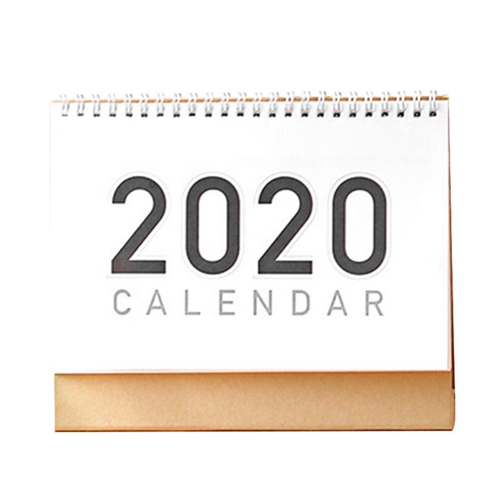 Planificador de mesa oficina en casa libre para hacer lista escuela DIY Memo decoración Calendario de papel de escritorio Flip mensual diario