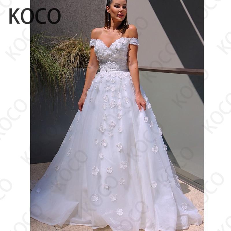 MACDUGAL-Vestido De Novia elegante De tul Floral, Vestido De Novia De playa...