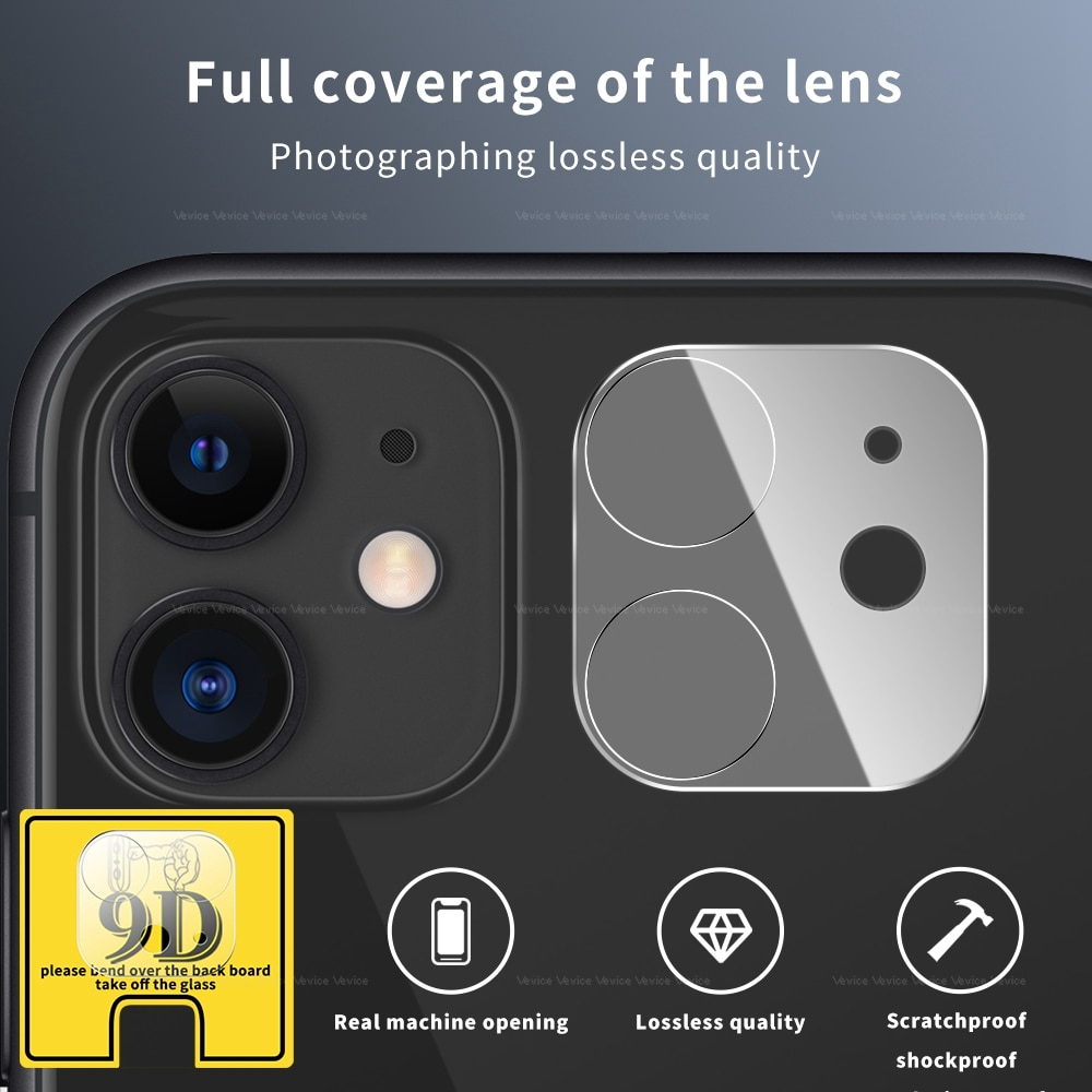 9D Camera Protector for iPhone 11 Pro Max 12 Pro Max 12 Mini Full Back Lens Protective Glass Screen