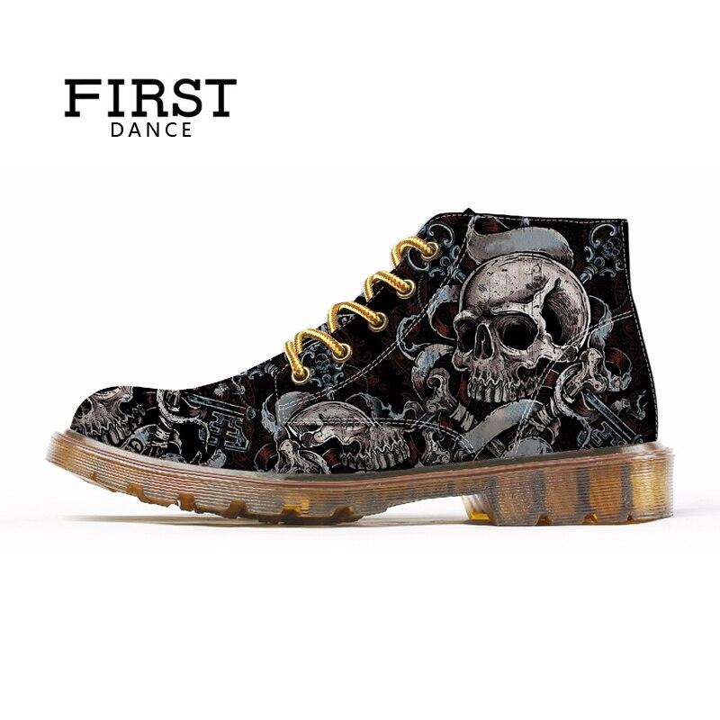 أول الرقص أزياء رجالي الجمجمة أحذية للرجال الأحذية أزياء الهيكل العظمي طباعة الأسود نيس الكاحل أحذية رجل أوكسفورد سبرينت أحذية الرجال