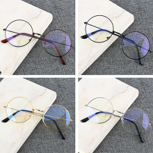 Retro Round Frame Anti-blue Radiation Glasses Ultralight Men Women Fashion Blue Light Blocking Glass