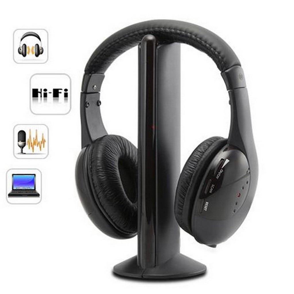 2020 nuevo para PC TV DVD CD MP3 MP4 auriculares inalámbricos llegada 5 en 1 Auriculares deportivos inalámbricos RF Mic # G1