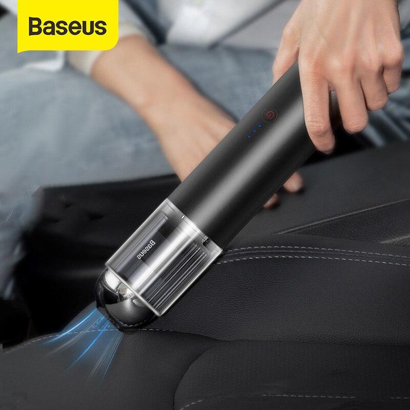 Baseus 15000Pa سيارة مكنسة كهربائية لاسلكية صغيرة سيارة تنظيف المحمولة مكنسة كهربائية ث مصباح ليد للسيارة الداخلية الأنظف