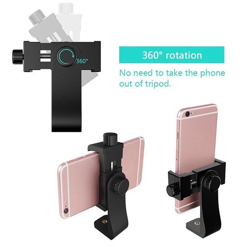Adaptador de trípode Universal para Smartphone de 360 grados soporte para teléfono móvil soporte de Clip para cámara iPhone