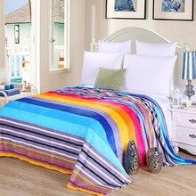 Couverture couverture de canapé taille roi   Drap de lit, rayé, chaud et confortable, pour enfants et adultes