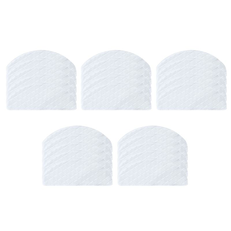 25Pcs Disposable Rags for Ecovacs Deebot Ozmo T8 Vacuum Cleaner Mop Cloths Moping Pads Spare Parts