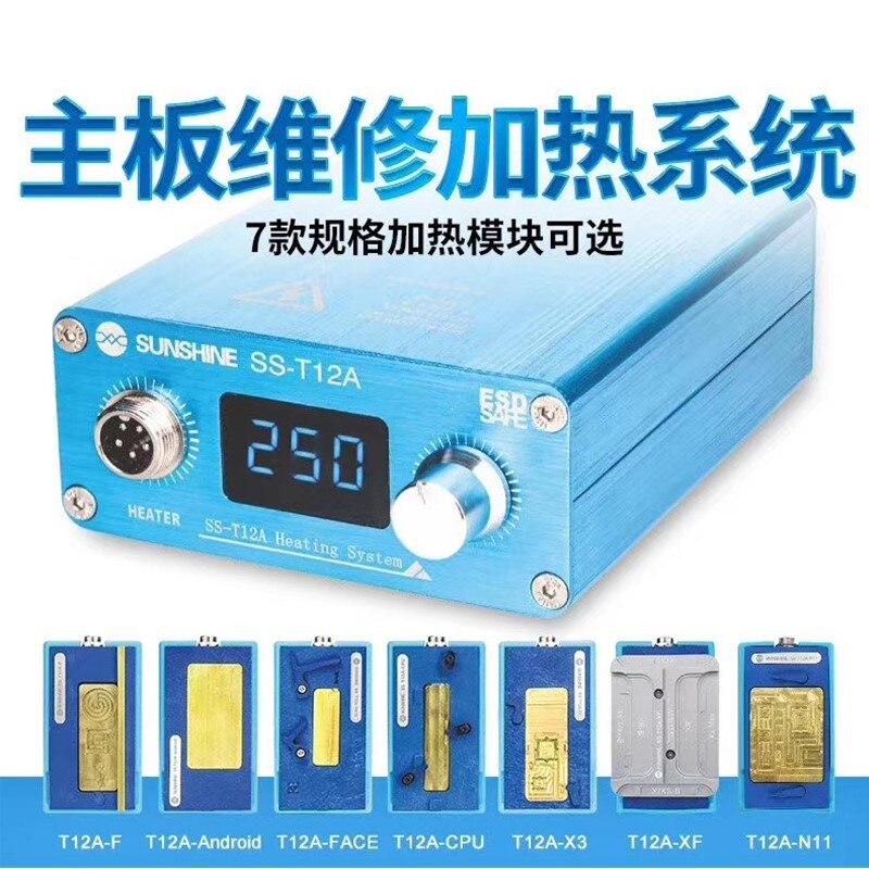 SS-T12 estação de solda aquecimento para ip 11 11 pro max x xs xsmax cpu ic chips desmontagem placa-mãe kit ferramenta reparo
