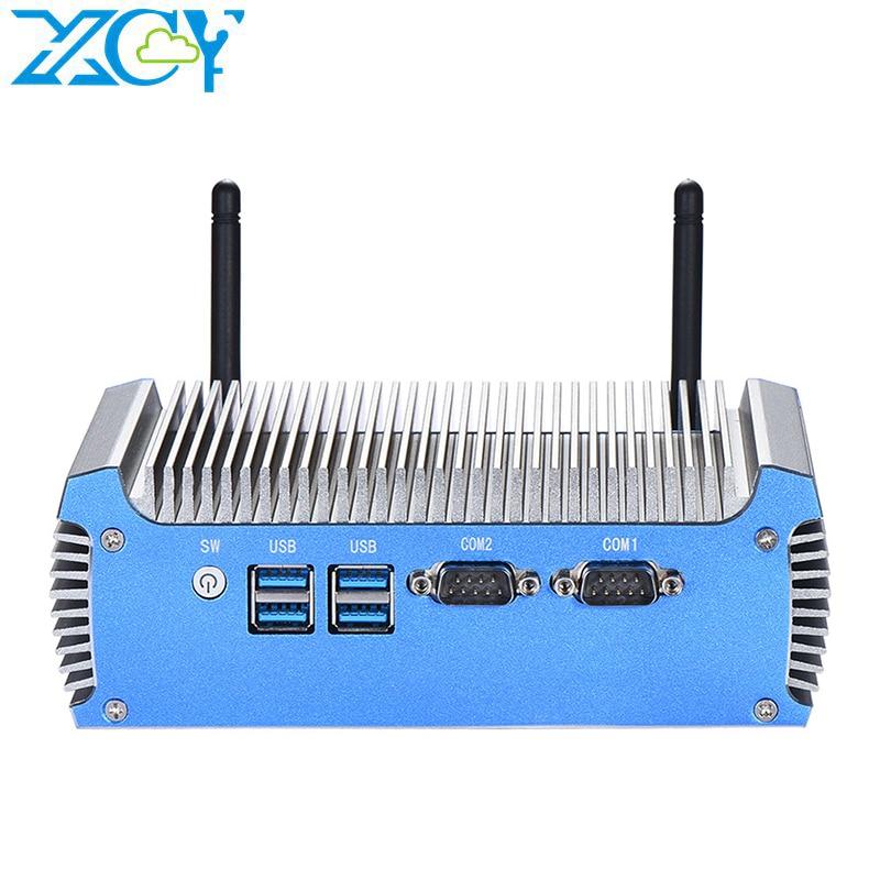 Мини-ПК XCY без кулера, Intel i7 5500U 4500U Windows 10 pro Linux, тонкий клиент Pfsense Micro 2Lan Tv, промышленные компьютеры