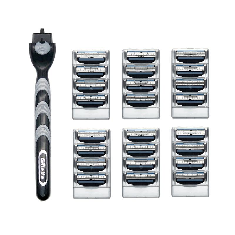Cuchilla de afeitar de alta calidad y mango Gillette Original, cuidado facial,...