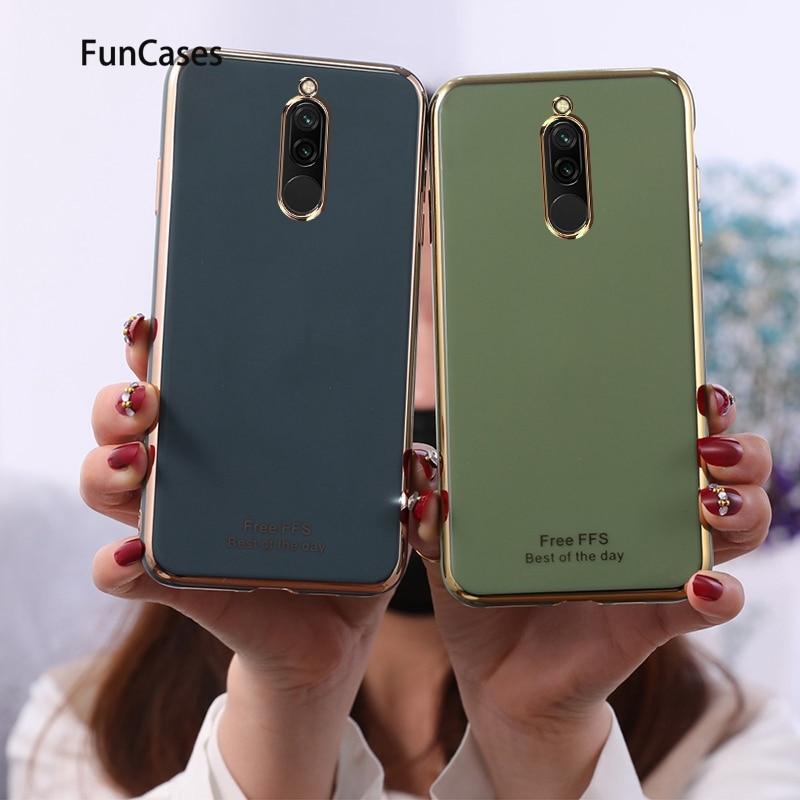 Fundas verdes de teléfono móvil para teléfono Xiaomi, Fundas Redmi 8 para...