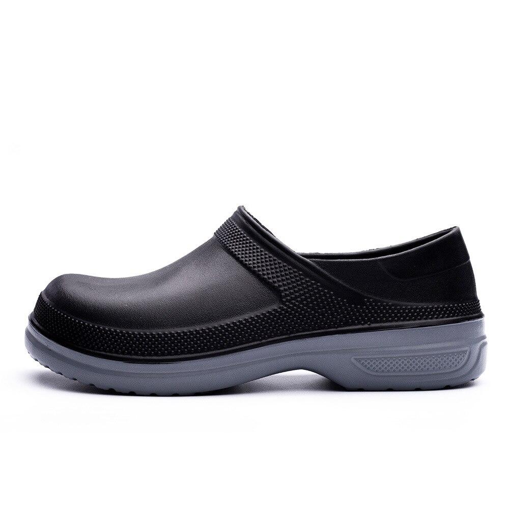 Zuecos de cocina antideslizantes para Hotel EVA, zapatos de trabajo impermeables a prueba de aceite, zapatos de cocina transpirables resistentes para Chef de talla grande 39-49