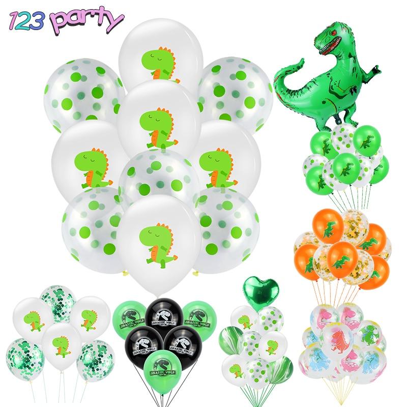 10Pcs 12Inch Cartoon Dinosaur Series Latex Balloon Birthday Party Baby Shower Kids Party Decoration Supplies