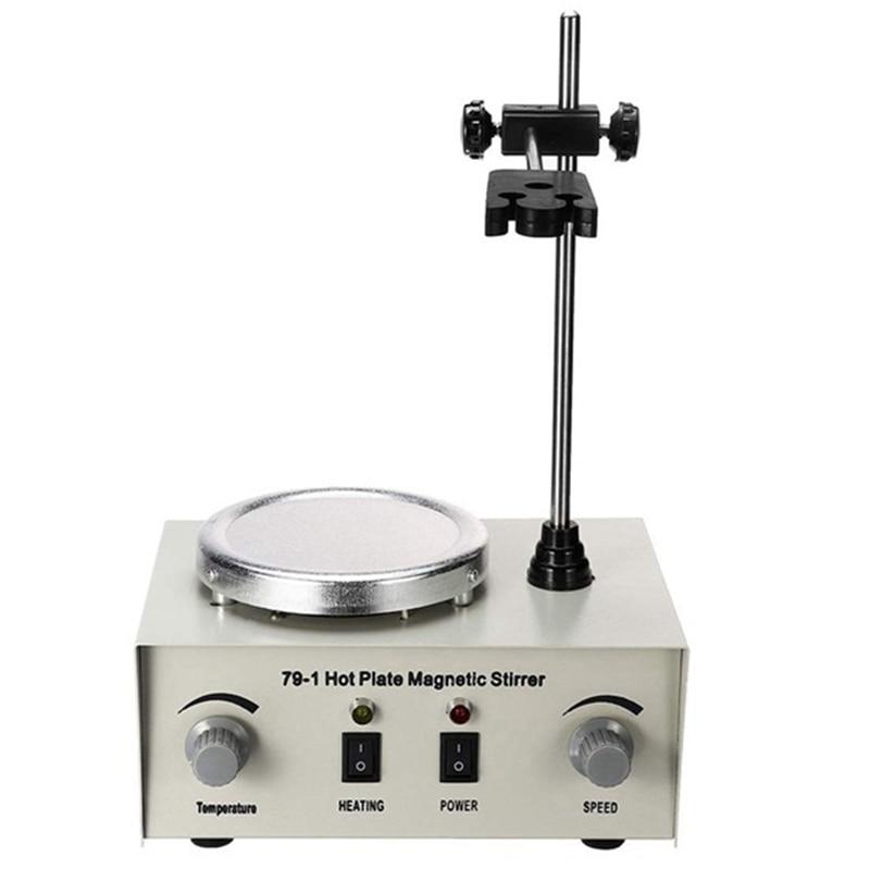 الولايات المتحدة التوصيل التدفئة محرك مغناطيسي مختبر ماكينة مزج/خلط 1000 مللي حار لوحة محرك مغناطيسي مختبر المزدوج التحكم خلاط ل اثارة