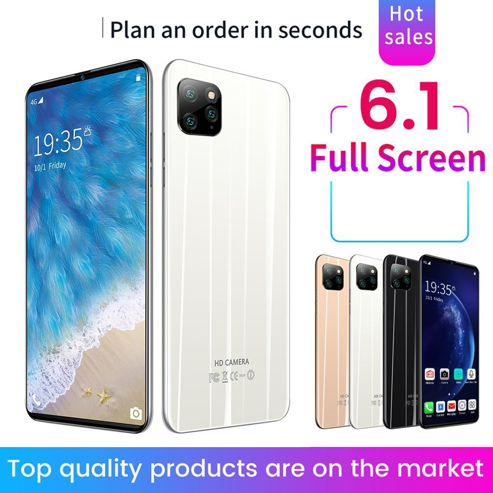 "I11 pro 3G Pantalla Completa Smartphone 6,1 ""Android OS 1GB de RAM 8GB ROM 5MP Cámara Quad Core Dual SIM GPS WiFi teléfonos móviles móvil"