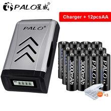Palo 4-16pcs AA Batteria Ricaricabile AA Batteria 1.2V 3000mAh AA Ni-Mh batteria per la macchina fotografica giocattoli luce + AA AAA caricatore del USB della batteria