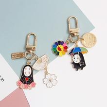 1pc cute No face man keychain Japanese Anime Miyazaki Spirited Away of Chihiro Figures keychain bag Pendant figure toys gift