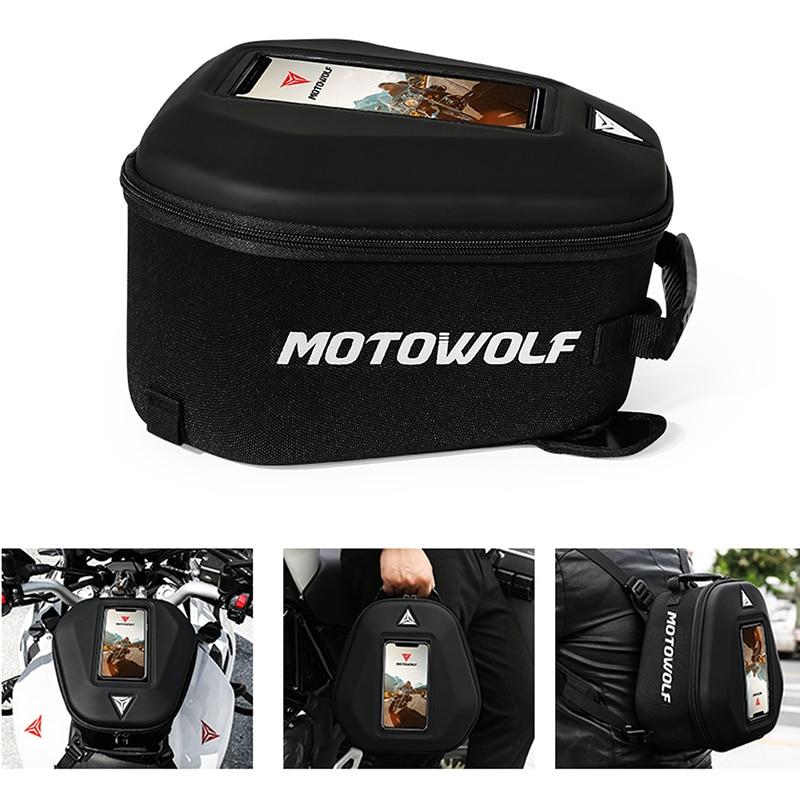 Женская сумка для мотоцикла топливного бака магнитного велосипеда большой экран