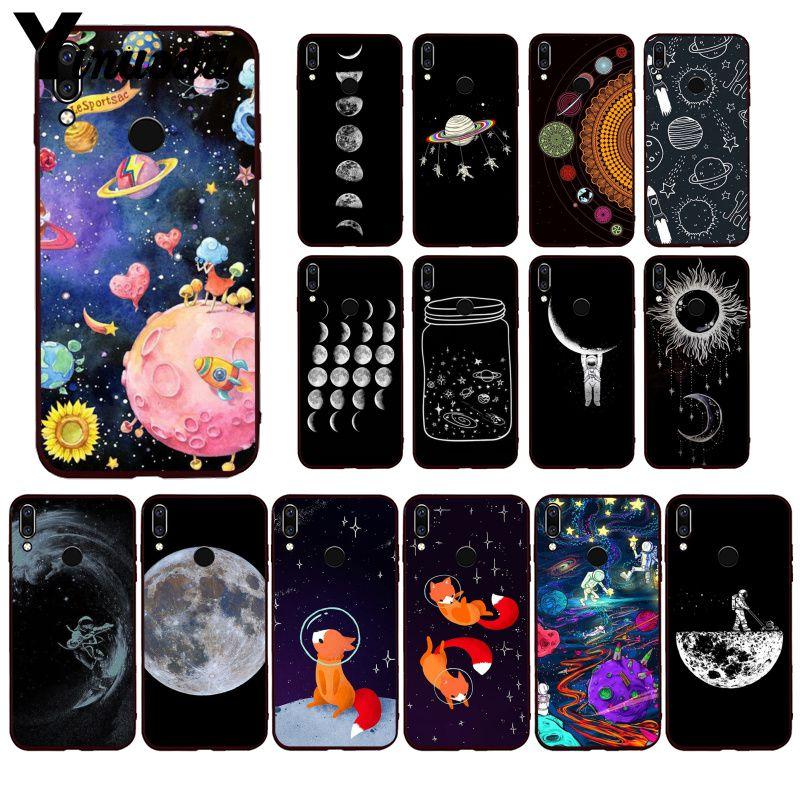 Yinuoda Space Astronaut  Moon universe foxes Phone Case for Huawei P40 P30 P20Pro P20Lite P30Lite P Smart P10Lite