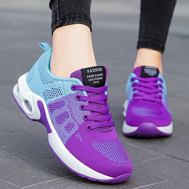 2021 Women Running Shoes Breathable Casual Shoes Outdoor Lightweight Sports Shoes Casual Walking Sne