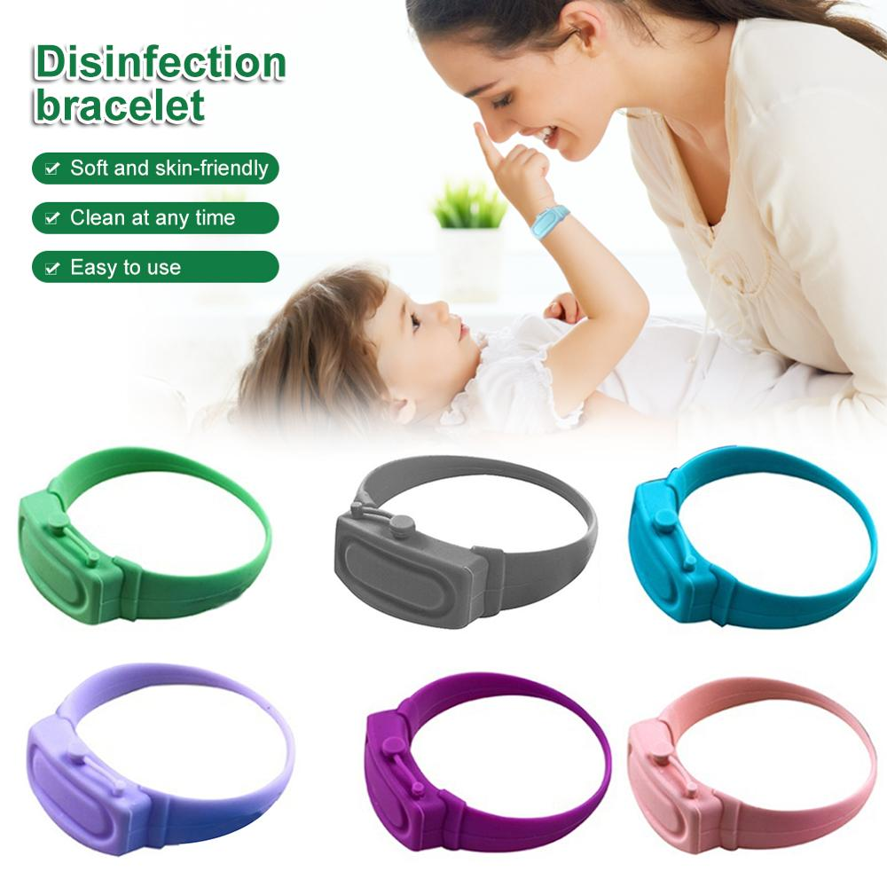 Hand Sanitizer Disinfectant Sub-packing Silicone Bracelet Wristband Hand Dispenser Wearable Hand Sanitizer Dispenser Pumps New wristband hand dispenser hand sanitizer dispensing silica gel wearable refillable dispenser pumps wristbands hand band wrist