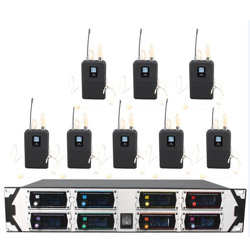 Profissional sem Fio Canal de Freqüência Microfone Fixa Dispositivo Exibição Dinâmica Estágio Desempenho U800gta2uhf8