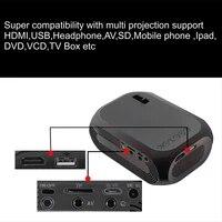 HD 1080P projecteur LED Portable Mini cinema maison leger USB AV HDMI AS99