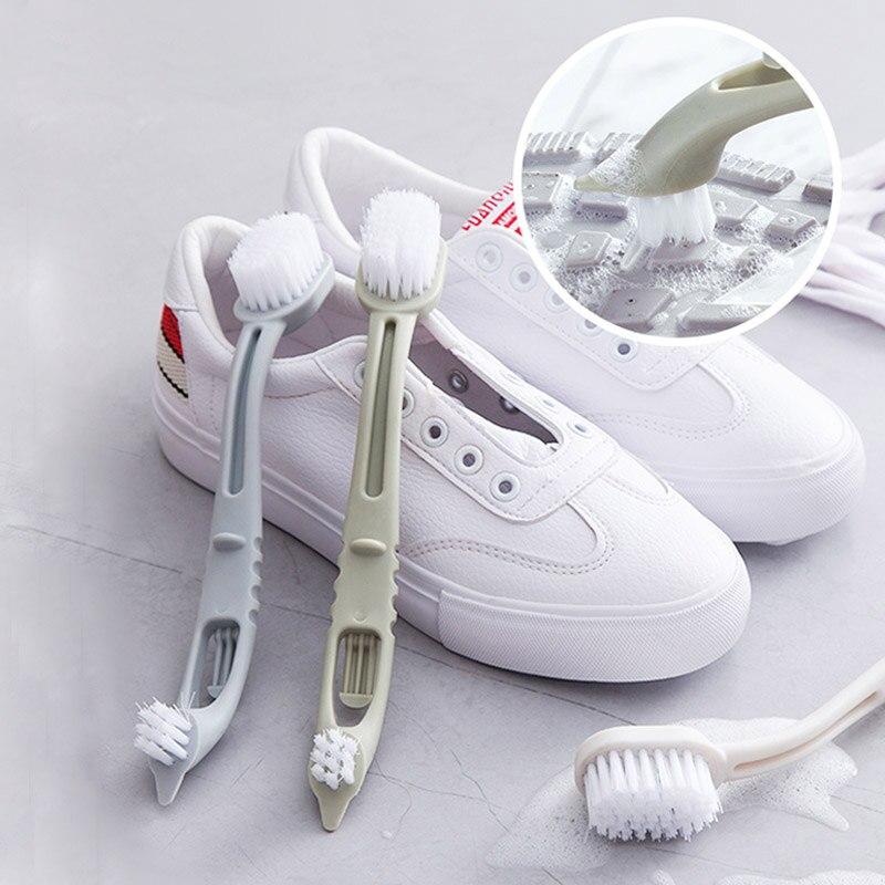 Двухсторонняя щетка для чистки обуви, набор для чистки кроссовок и белой обуви, многофункциональная щетка для уборки дома, инструмент для с...