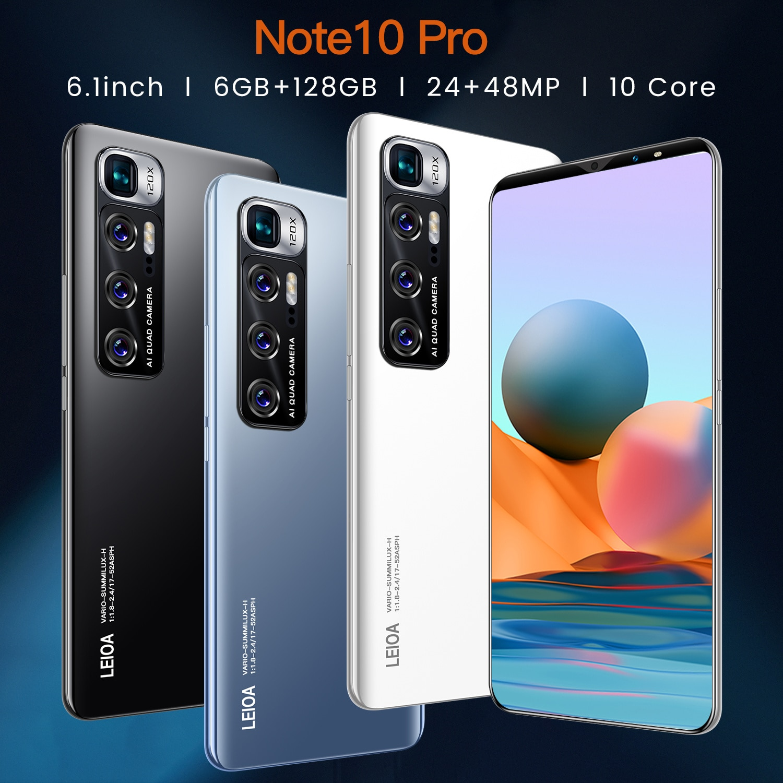 Radmi Note 10 Pro Smartphone Android 10 128 gb 6.7inch Smart Phones Unlocked 5g Global Version Mobile Phones 512gb Cellphones enlarge