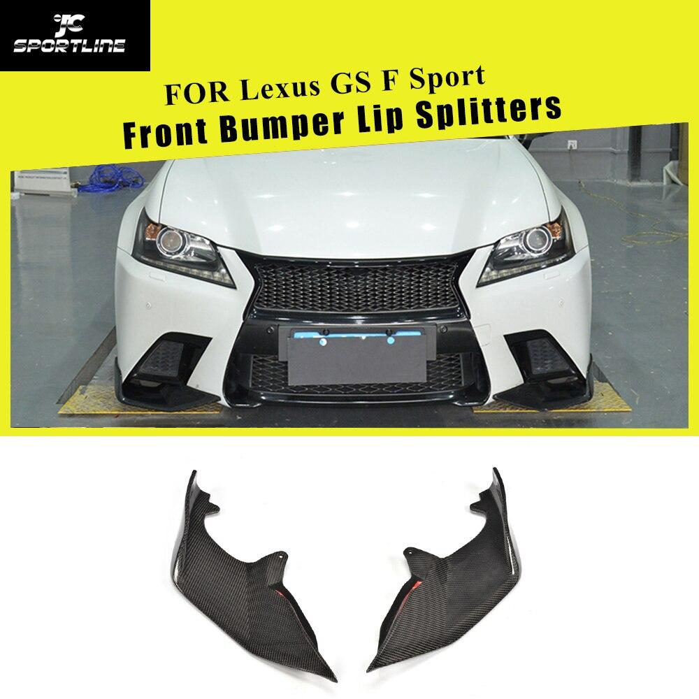 Carbon Fiber / FRP Front Bumper Lip Spoiler Splitters Winglets Flaps Cupwings For Lexus GS F Sport GS350 GS450h 2012 - 2015
