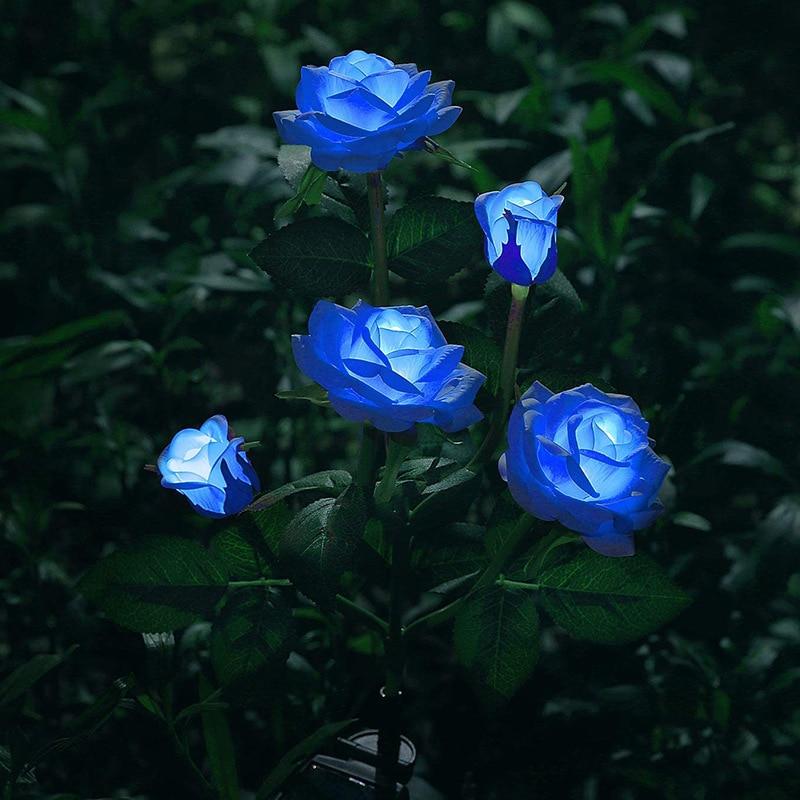 luz solar da flor do diodo emissor de luz da flor de rosa ao ar livre a prova dwaterproof