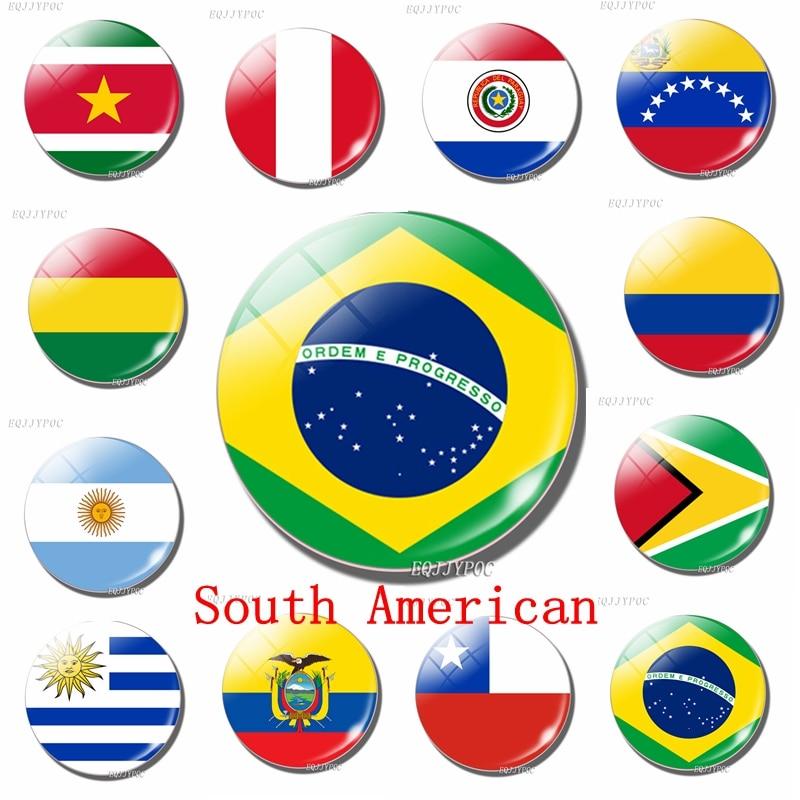 Флаг, холодильник, магнит, Соединенные Штаты, Уругвай, Бразилия, Гайана, Парагвай, Колумбия, Перу, Венесуэла, Эквадор, сувенир