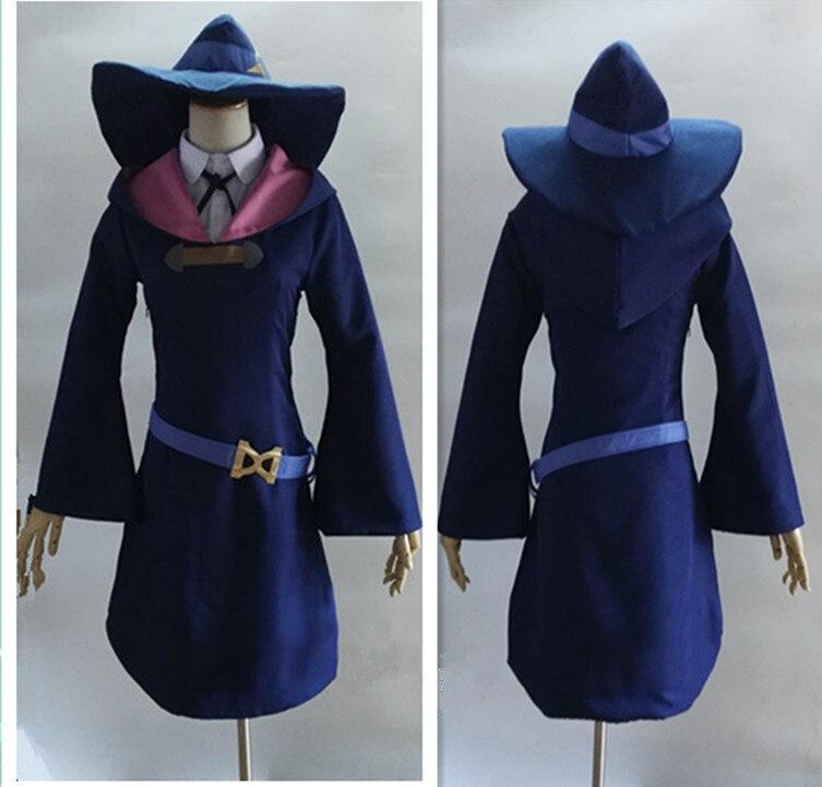 ¡Anime! disfraz de Cosplay de la pequeña bruja Academia KagariAtsuko Diana Cavendish, uniforme gótico para mujer, tamaño personalizado, Envío Gratis