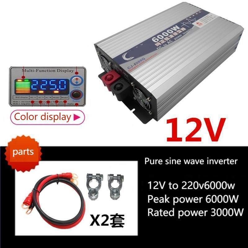 12v24v48v60v72v إلى 220 فولت تحويل الطاقة العالية موجة جيبية نقية سيارة متعددة الأغراض العاكس suswi60hz/50hz