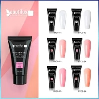 1pc nail art uv led clear milky white pink poly acryl builder construction gel polish for extension 30g