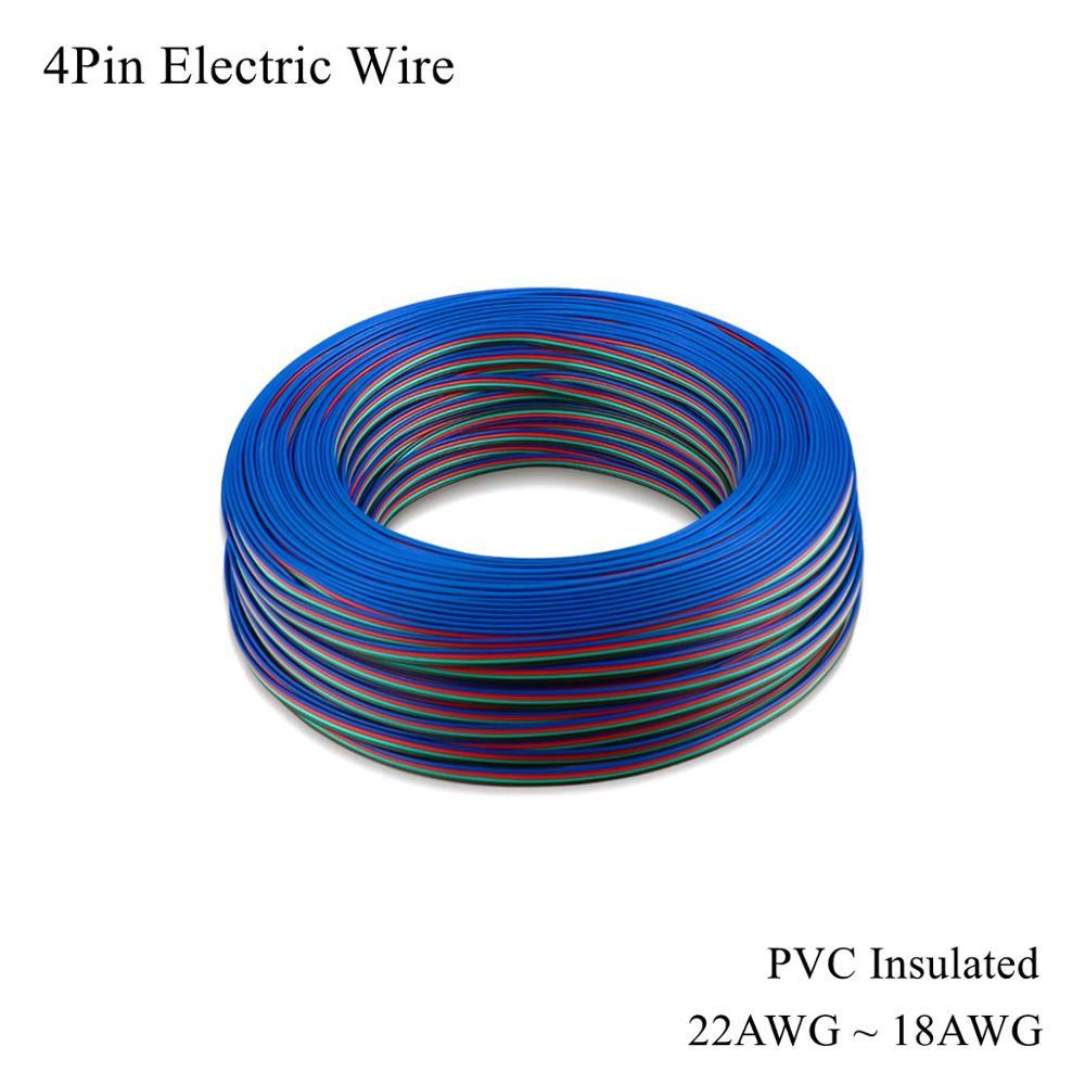 22AWG ~ 18awg Cable de cobre estañado eléctrico de 4 pines Cable...