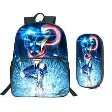 Nouveau Pokemon Greninja sac à dos mode beau motif coloré belle praticité étudiants sac à dos avec porte-crayon