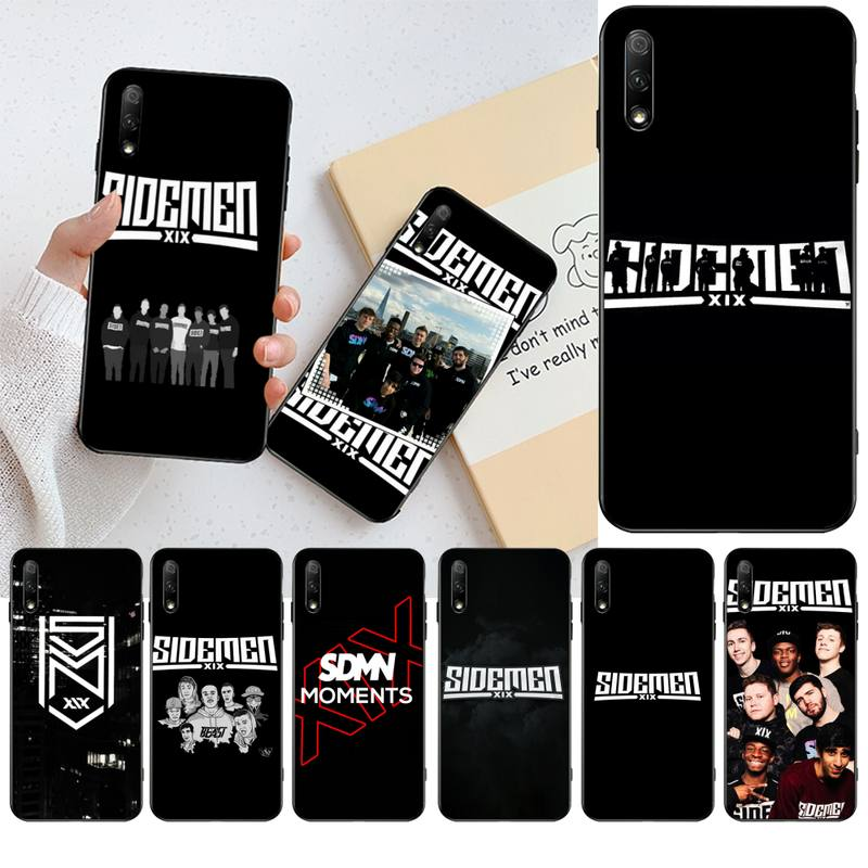 Funda HPCHCJHM diseño logo negro Funda de teléfono de TPU blanda para Huawei Nova 6se 7 7pro 7se honor 7A 8A 7C Prime2019