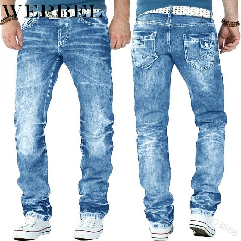 Джинсы Mandylandy мужские рваные, модные облегающие джинсы из денима со складками, прямые мужские джинсы брюки в стиле ретро, джинсы для мужчин