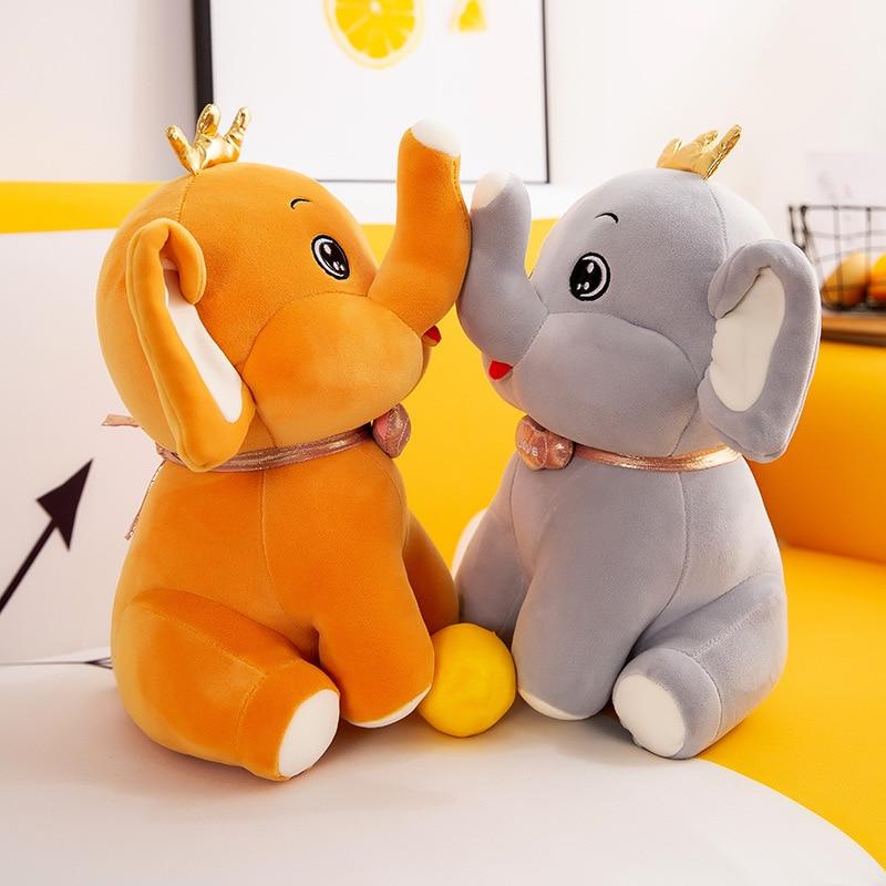 holiday gift plush toy barto duck dog lula ellie elephant doll Cute Elephant Plush Toy Kawaii Crown Elephant Plush Filled Sleep Pillow Girl Room Decoration Doll Couple Gift Wedding Decoration